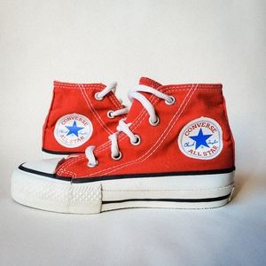 Toddler Converse All-Star High Top Red Sneakers